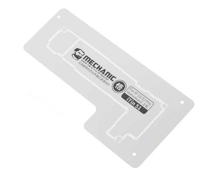 For iPhone 12 & 12 Pro - Mechanic iTin 51 Logic Board Reballing Stencil 1